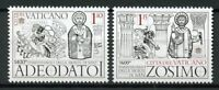Vatican City 2018 MNH Popes & Saints Pope Adeodatus Saint Zosimus 2v Set Stamps