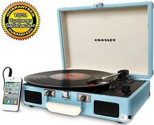 Turntable Portable Record Player Turquoise Vinyl Stereo - Crosley CR8005A-TU