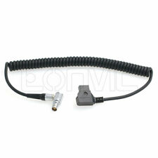 Red Scarlet Epic Camera D-Tap Coiled Power Cable to Right Angle Female 6 Pin