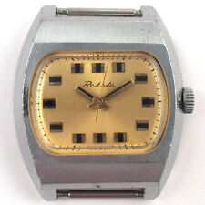 Nice Soviet RAKETA watch, TV-DIAL, Chromed case USSR 1970s *US SELLER* #1065