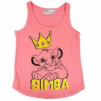 DISNEY THE LION KING SIMBA GIRLS TANK TOP SINGLET BRAND NEW SIZE 8, 10, 12, 14