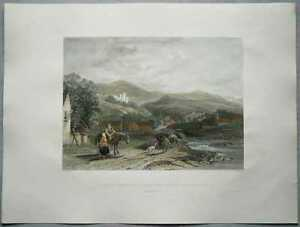 1837 Allom print SCOTLAND: CASTLE CAMPBELL, FROM VALLEY OF DOLLAR, PERTHSHIRE