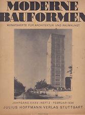 MODERNE BAUFORMEN Feb 1936 | Bauhaus Design Architecture w/ ENGLISH SUPPLEMENT
