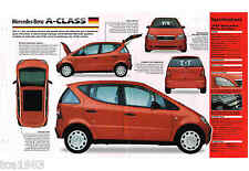 1997/1998/1999 MERCEDES BENZ CLASE A Coche Smart SPEC Hoja / Folleto