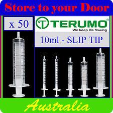 50 x 10ml Terumo Syringe SLIP TIP - Syringes only - No Hypodermic Needle