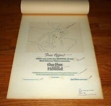 Disney Fox and the Hound Advertising Mock Up Layout Board w/rig Drawing