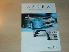 21412) Opel Astra Irmscher engl. Prospekt 2001