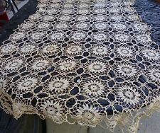 Antique Runner Table Scarf Hand Crochet 36x54