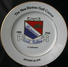 RIVIERA COUNTRY CLUB CORAL GABLES Commemorative Plate