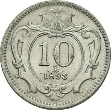Lanz Habsburg 10 Heller 1893 Franz Josef Viena Austria #va4315