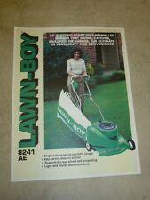 "1984 LAWN-BOY 8241 AE 21"" ELECTRIC START SELF-PROPELLED LAWNMOWER SALES BROCHURE"