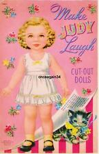 Vintage Uncut 1952 Make Judy Laugh Paper Dolls~#1 Reproduction~Rare Set~Pretty