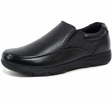 Alpine Swiss Arbete Mens Work Shoes Slip Resistant Real Leather Slip-On Loafers
