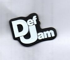DEF JAM RECORDINGS PLASTIC BADGE American Hip Hop Rap Label 80s Vintage Badge