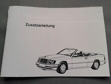Zusatzanleitung W124 Cabrio