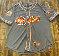 Authentic Oregon State Beavers NCAA College Baseball Jersey XL Colosseum Sewn