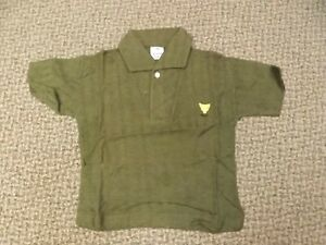 Rockabilly Vtg 1950s New Olive Green Hi-Style Knit Short Sleeve Shirt Boys 4T