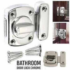 Lock Chrome Bathroom Door Toilet Turn Rotate Twist Bolt Privacy Catch Latch UK