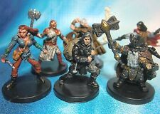 Dungeons & Dragons Miniatures Lot  Player Character Party Unique !!  s101