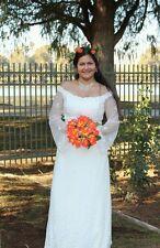 Jessica McClintock bridal long sleeve Wedding Dress Size 6.Fully lined lace.