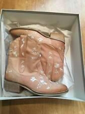 Kurt Geiger Carvela Sashay Camel Leather BOOTS Cowboy Style EU 36 UK 3 US 5