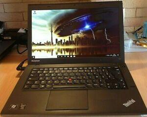 """Lenovo Thinkpad T440 I5 4200U/2,60GHZ/SSD 240Go/Ram 8Go/ 14""""/ Azerty/2 batteries"""