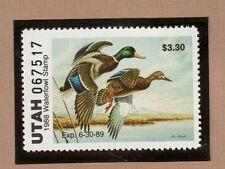 Ut3 - Utah State Duck Stamp. Mnh. Og.