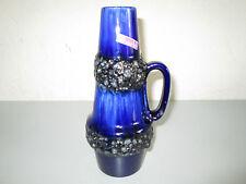 Scheurich Fat Lava Vase Henkelvase Modell Nr. 400-22 blau schwarz 70er Jahre
