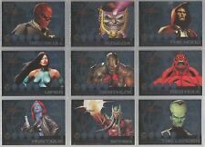 """Marvel Heroes & Villains - """"Most Wanted"""" Set of 9 Chase Cards #M1-9"""