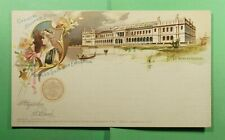 DR WHO 1893 WORLDS COLUMBIAN EXPO UNUSED PICTORIAL POSTAL CARD  f52359