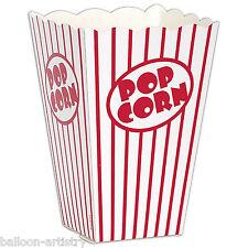 10 Hollywood Classic Rojo Rayas En Blanco Cine Estilo Noche De Cine Palomitas Cajas