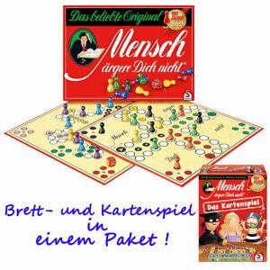Original Mensch ärgere dich nicht Brettspiel Jubiläumsausgabe + Kartenspiel