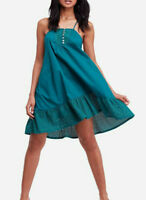 Free People Womens Calico OB843641 Dress Relaxed June Bug Green Size XS