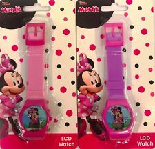 Minnie Mouse 2pcs Digital LCD Wrist Watch For KIDS Girls Birthday
