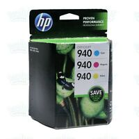 3/PK Genuine HP 940 Cyan Magenta Yellow OfficeJet 8500 8000 8500A (Retail Box)