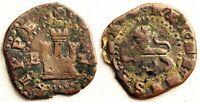 Spain-Felipe II. 2 Cuartos. Burgos B-Z. Sin fecha. Cobre 3,6 g.