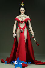 1/6th Red Queen Clothes Custom Female Long Dress Suit F TBLeague Large Bust Body