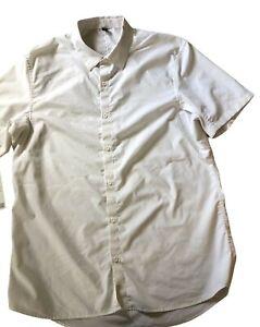 LULULEMON Mens Down To The Wire Short Sleeve Shirt  White sz XL  Work Play Fun