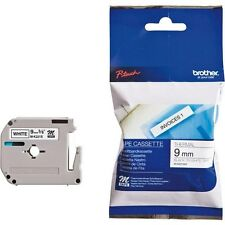 Brother P-touch M-K221SBZ (9mm x 4m) Black on White Plastic Labelling Tape