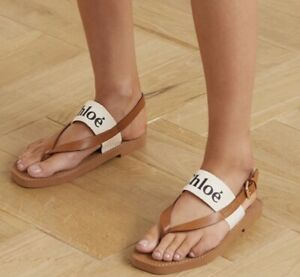 Chloe logo sandals, in size 41, Aus 10, pre loved