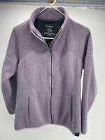 Women's LL Bean Full Zip Lavender Fleece Jacket Sweater Misses Size S Reg EUC