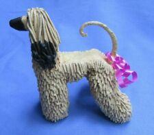 "Afghan Hound Hand Made Dog Ooak Sculpture 6"""