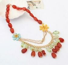 Pendant Betsey Johnson Jewelry Fashion Rhinestone bead Flower crystal necklace