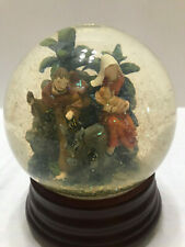 Christmas Nativity Joseph Mary Baby Jesus Manger Scene Musical Snow Globe