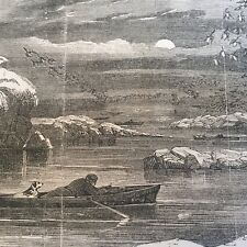 1852 illustrated newspaper DUCK SHOOTING HUNTING Along POTOMAC RIVER Waterfowl