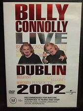 BILLY CONNOLLY ~ LIVE DUBLIN ~ 2002 ~ AS NEW DVD ~ PAL REGION 2 & 4 ~ FREE POST