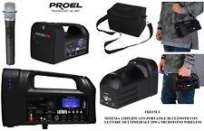 Proel Free5lt Amplificatore Cassa portatile Alimentato a Batteria con Microfono