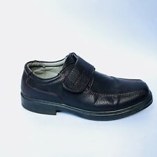 Brixton Black Monk Strap Loafers Leather Casual Shoes Men's Size 10.5
