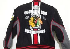Chicago Blackhawks Kids L 9-10 Hockey 2010 Stanley Cup Champions Black Jacket