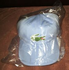 LACOSTE BRAND NEW HAT BABY BLUE MIAMI OPEN WITH TAGS AND IN BAG CAP RARE